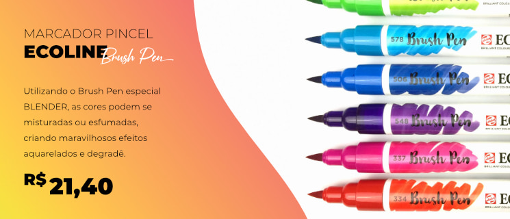 Marcador Pincel Ecoline Brush Pen
